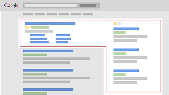 Google oglašavanje u rezultatima pretrage