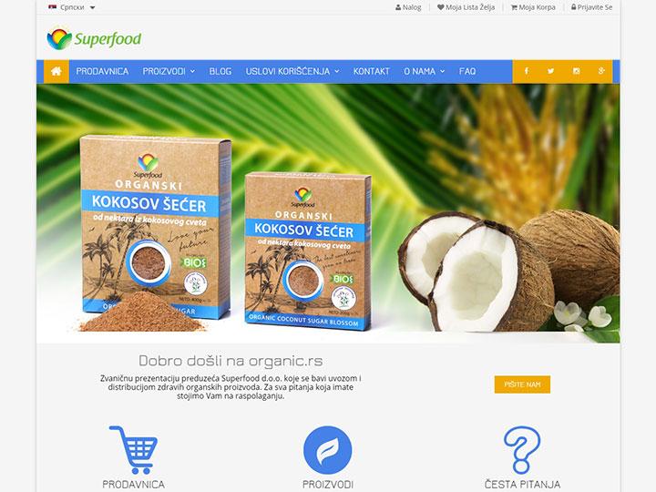 Organic.rs - Izrada sajta